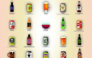 Fictional Beer Brands by Posterservice inc.