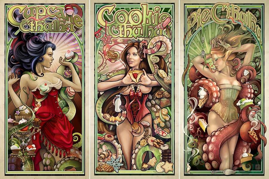 Baked Desserts Cthulhu Triptych