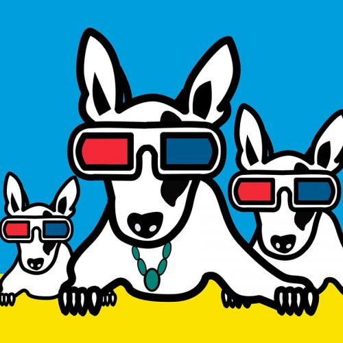 3D Glass Dogs