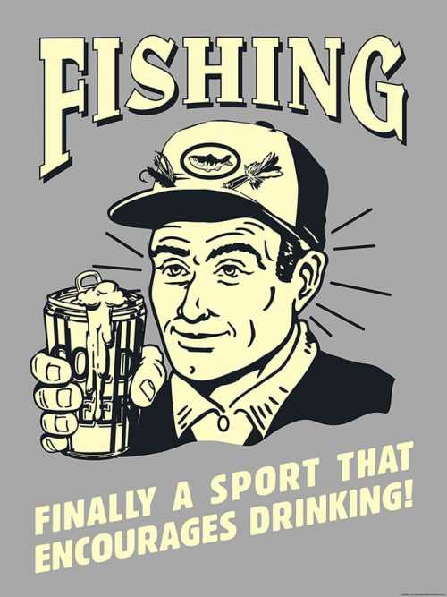 Fishing and Drinking