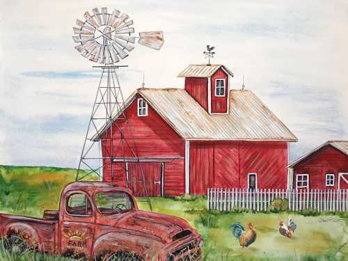 Rural Red Barn A